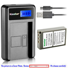 Kastar Battery LCD Charger for Olympus BLS-5 PS-BLS5 BLS-50 & E-400 E-410 E-420