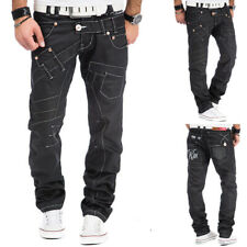 Mens New 100% Authentic Kosmo Lupo Black Jeans Pants Size Big 30 32 34 36 38 40