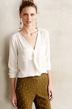 NIP Anthropologie Scalloped Remi Blouse by HD in Paris Size 10