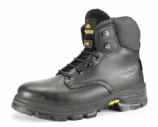 Aimont Pioneer Black Vibram Mens Lace Up Work Safety Boots Black