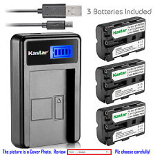 Kastar Battery LCD Charger for Sony NP-FM500H & Sony DSLR-A300 Alpha A300 Camera