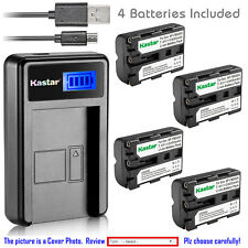Kastar Battery LCD Charger for Sony NP-FM500H & Sony DSLR-A350 Alpha A350 Camera