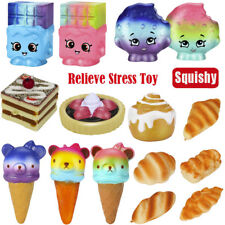Squeeze Ice Cream Bread Cake Squishy Slow Rising Scented Decompression Toys Lot