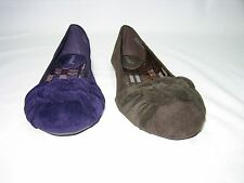 Bamboo ballerina comfort flats pumps women's shoes faux suede knotted vamp