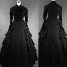 Black Gothic Victorian Cosplay Lolita Dress Costume Ball Gown Fancy Party Dress