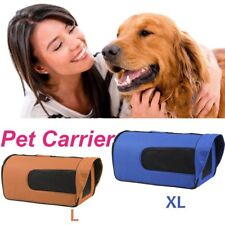 Pet Carrier Dog Cat Soft Crate Cage Bag Portable Kennel Foldable Travel L XL BG