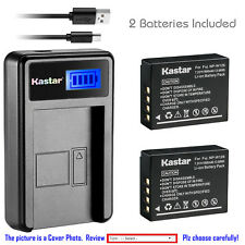Kastar Battery LCD USB Charger for Fuji NP-W126 NP-W126s & Fujifilm X-E1 Camera