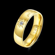 Male Zicron Ring god is love Pattern Man Finger Ring Party Jewelry Decorative Q9