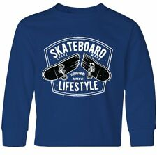 Inktastic Skateboard Lifestyle Youth Long Sleeve T-Shirt Skateboarder Hobbies