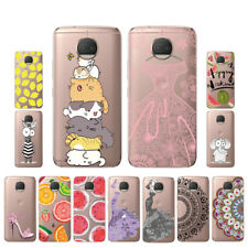 Soft TPU Silicone Case For Motorola Moto G5S Plus Phone Back Covers Skins Clear