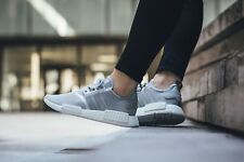 ADIDAS NMD R1 RUNNER BOOST NOMAD SILVER METAL WHITE WOMEN S76004 NEW