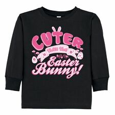 Inktastic Cuter Than The Easter Bunny Rabbit Toddler Long Sleeve T-Shirt Girls