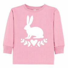 Inktastic Easter Rabbit Bunny Toddler Long Sleeve T-Shirt Silhouette Holiday Egg