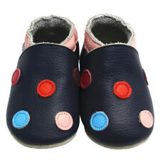 Mejale Baby Shoes Soft Leather Sole Toddler Infant LO Walking Moccasins w/ Dots