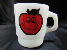 Vintage Johnny Appleseed Anchor Hocking Fire King Jr. Ecology Club Mug, Cup