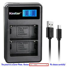 Kastar Battery LCD Dual Charger for Sony NP-FM500H Sony CLM-V55 ILCA-77M2 Camera