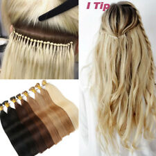 200S Remy 100% Real Human Hair Extensions Stick I Tip Hair Micro Ring Blonde US