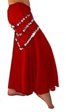 Hot Red  Skirt Easy To Fly Light Weight  Belly Dance