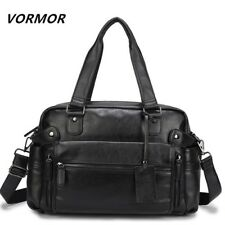 Business Laptop Handbag Men Briefcase Bag Work Messenger Shoulder Leather Casual