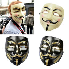 V for Vendetta Masks Cosplay Guy Fawkes Black Face Mask Cool Halloween Accessory