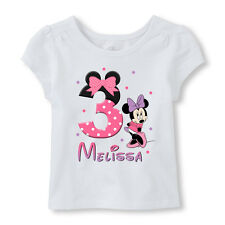 Minnie Mouse Birthday Iron On, Personalized Minnie Mouse Fabric Transfer