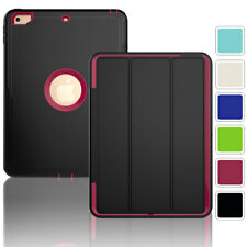 For Apple iPad 2 3 4 9.7inch Screen Protector Shockproof Smart Cover Case Stand