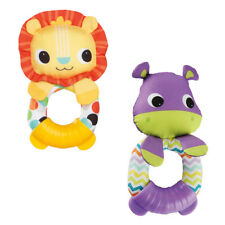 Bright Starts Teethe & Rattle Pals - Lion or Hippo