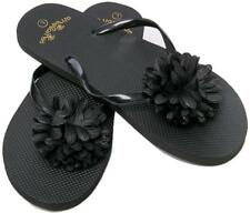 Flip Flops Womens Pool Beach Shoes With Flower Pattern- Floral Design