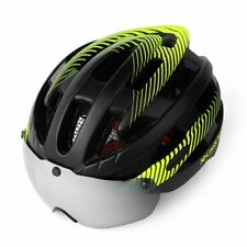Bicycle Helmet Bike Cycling Adult Road Mountain Safety Helmets Goggles lens