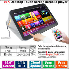 Touch Screen Karaoke Player,Jukebox,3-8TB HDD,59K Thai DVD+English VCD DVD Songs