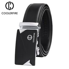 COOLERFIRE New design cow genuine leather strap male belt automatic buckle Sale