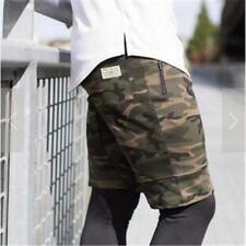 Camouflage Shorts Summer Men's Polyester Military Casual Solid Color Beach Print