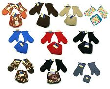 4 Piece set of cotton Pot holders and oven mitts