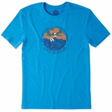 Life is Good. Mens Cool Tee: Life isn't Easy Ocean - Marina Blue