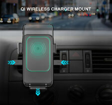 Qi Wireless Car Quick Charger 2 in 1 Mount Holder For iPhone X 8 Plus Samsung S9