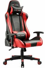GTRacing Office PU Leather High Back Recliner Swivel Gaming Chair Red