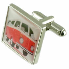 Vw Campervan Novelty Cufflinks With Pouch