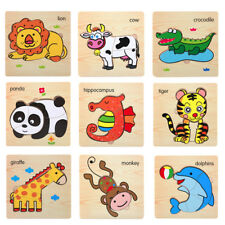 Multi Model Wooden Puzzle Educational Developmental Baby Kids Training Toy Gift
