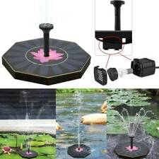 Octagonal-shaped Solar Floating Fountain Water Pump For Garden Pool Plants M