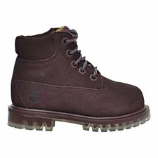 Timberland 6 Inch TPU Outsole Waterproof Suede Premium Toddler Boots Dark Red tb