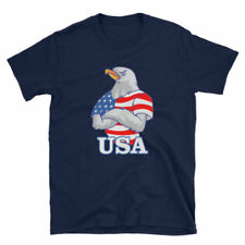 Red White and Blue 4th of July USA Patriotic American Eagle Flag T-Shirt