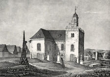 BROCKWITZ (Coswig) - Sachsens Kirchen-Galerie - Lithographie 1837