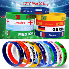 2018 World Cup Country Flag Silicone Bracelet Rubber Sport Bangle Wristband