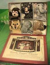 Restoration Hardware Family Puppet Theater w Stage and Six Deluxe Hand Puppets