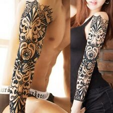 Full Arm Leg Temporary Waterproof Tattoos Art Stickers Removable Sleeve