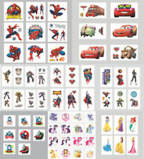 NEW Childrens Avengers Princess Pony Cars Temporary Tattoo Party Bag Filler kids