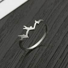 Elegant Fashion Ring Finger Ring Mountain Shape Silver Gifts Jewelry 4972