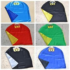 Ninjago Kids Birthday Party Favors, Superhero Mask, Cape can Personalize Name