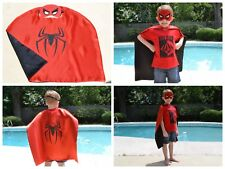 Spiderman Kids Birthday Party Favors, Superhero Mask, Cape can Personalize Name
