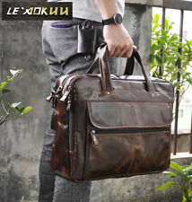 Men Briefcase Leather Design Business Laptop Document Case Attache Messenger Bag